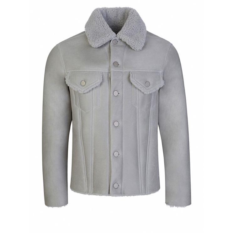 Maison Margiela Grey Shearling Jacket