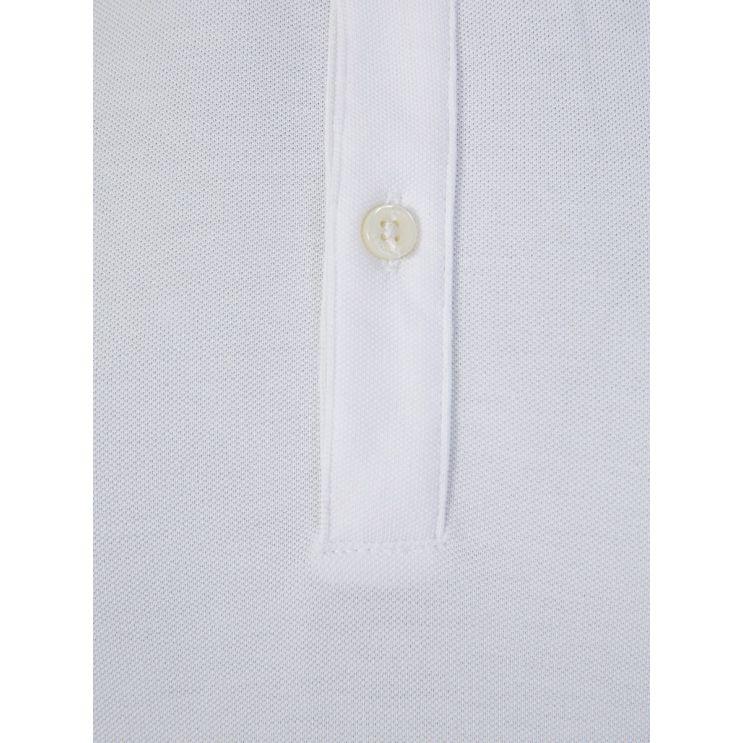 BOSS White Fine Piqué Polo Shirt