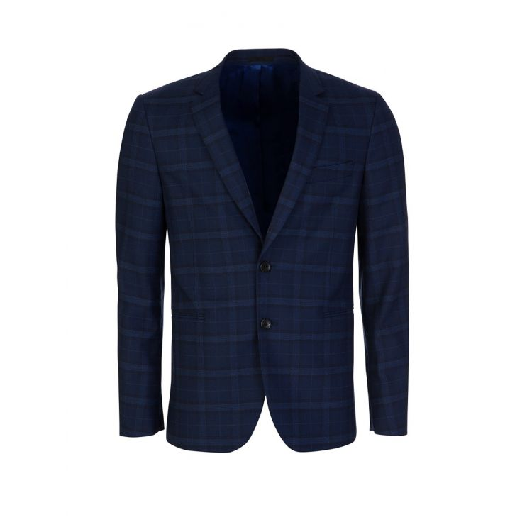 PS Paul Smith Blue Check Slim Fit Jacket