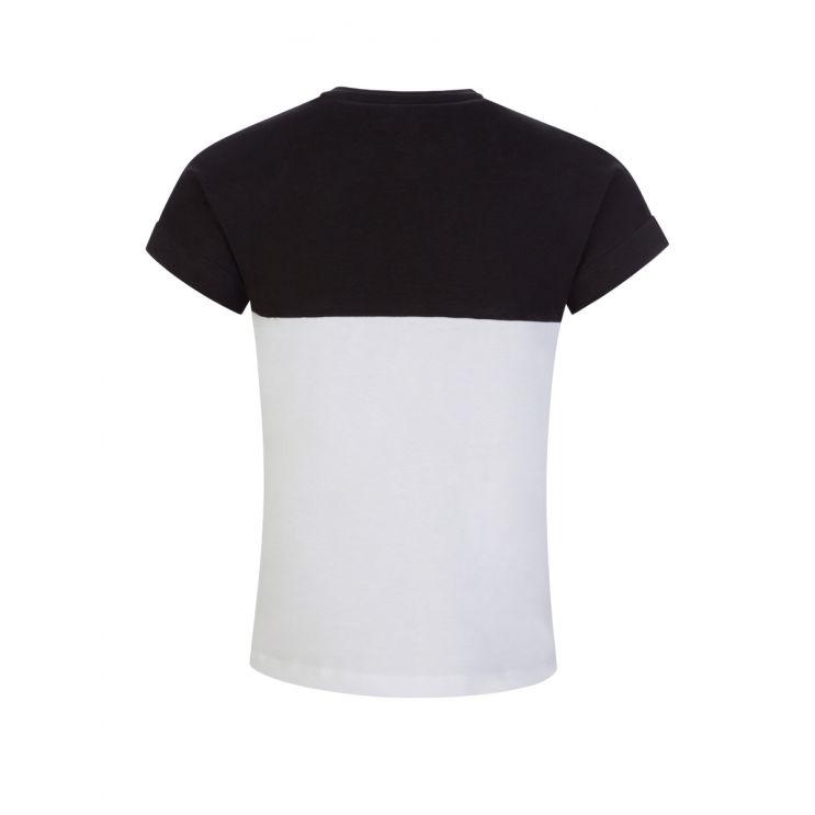 GUESS Kids Black/White Organic Cotton Logo T-Shirt