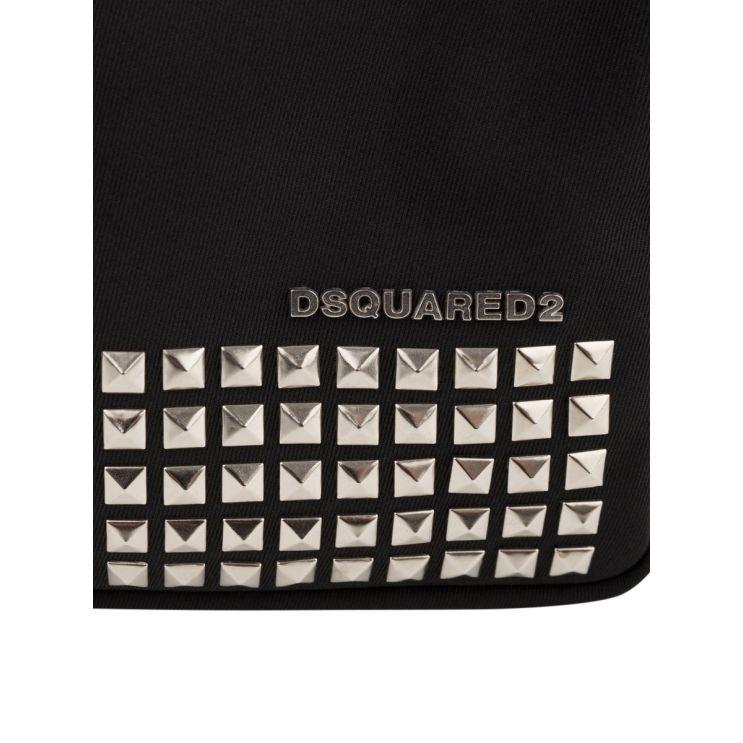 Dsquared2 Black Punk Spike-Studded Bag