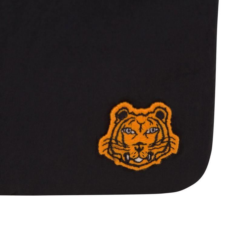 KENZO Black Tiger Patch Logo Messenger Pouch