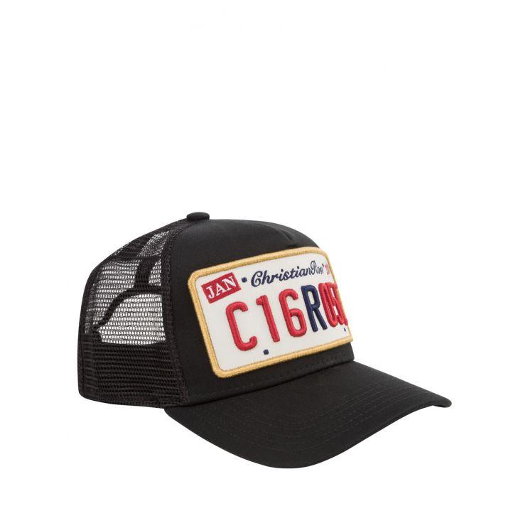 Christian Rose Black/Gold Private Plate Cap