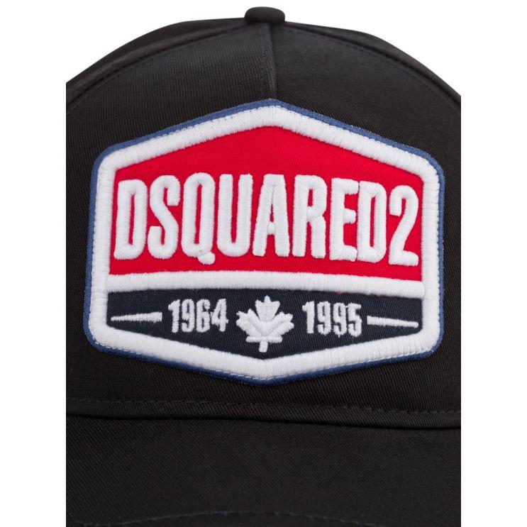 Dsquared2 Black 1964 Patch Cap