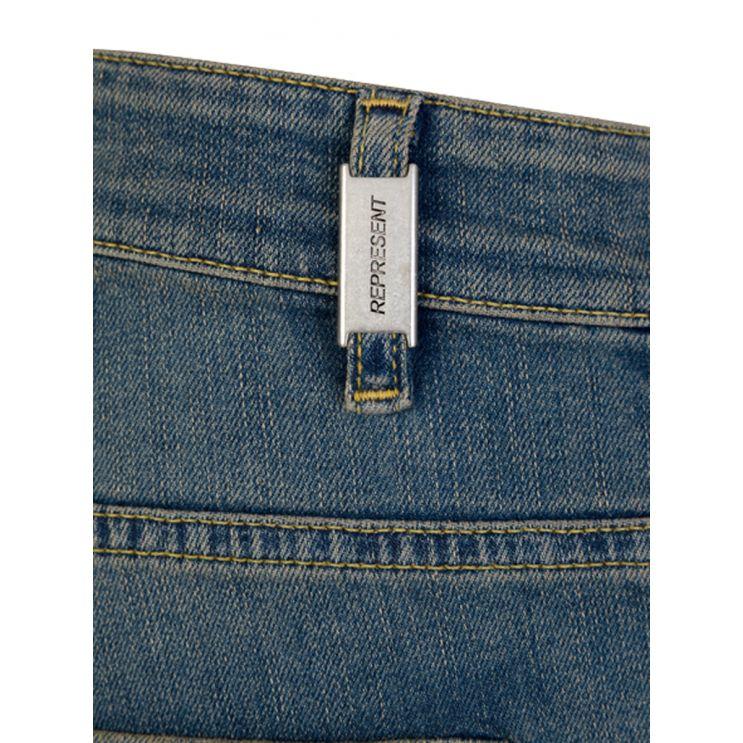 Represent Light Indigo Skinny-Fit Destroyer Denim Jeans