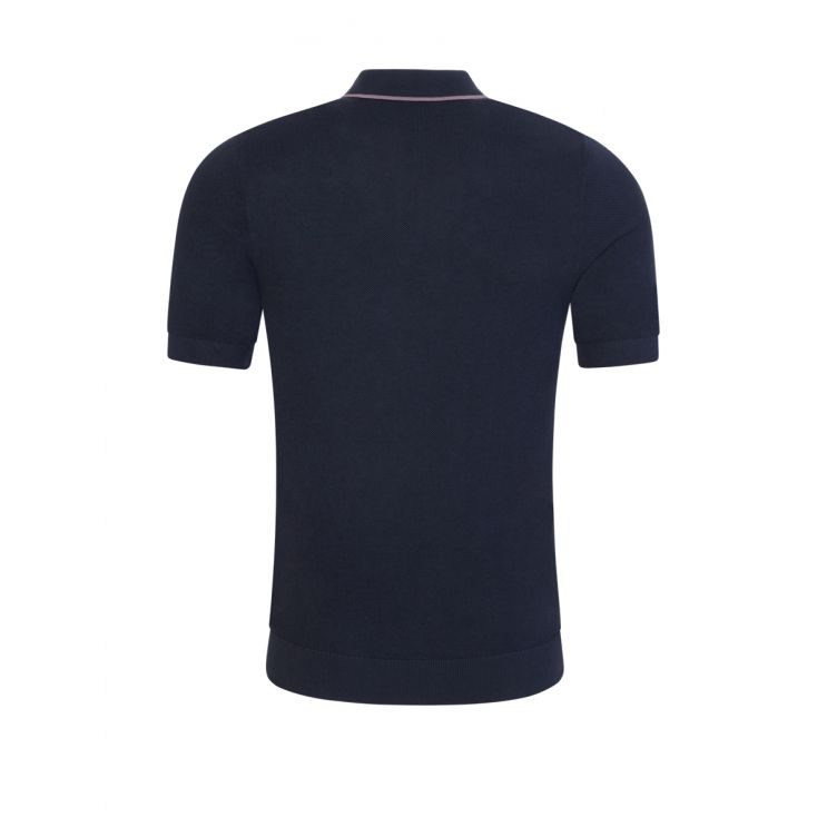 Fred Perry Dark Navy Tipped Knitted Polo Shirt