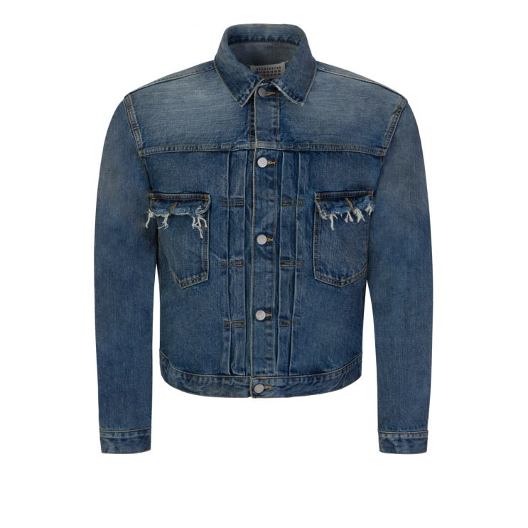 Maison Margiela Blue Destroyed Jean Jacket