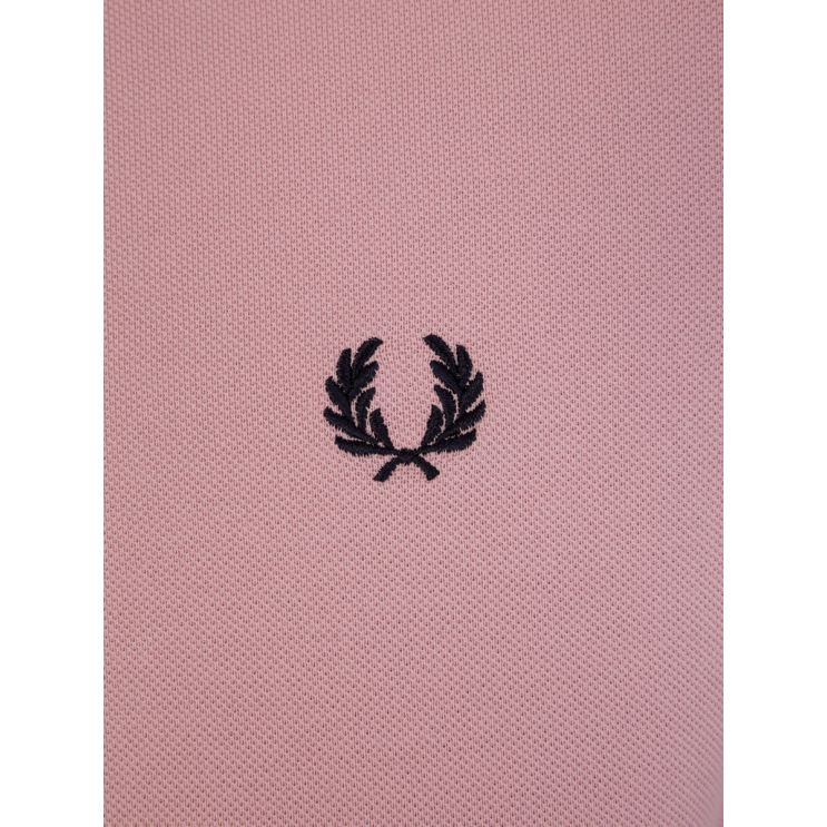 Fred Perry Pink Abstract Tipped Polo Shirt