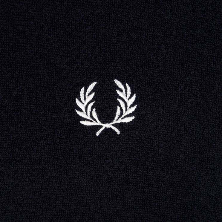 Fred Perry Navy Towelling Polo Shirt