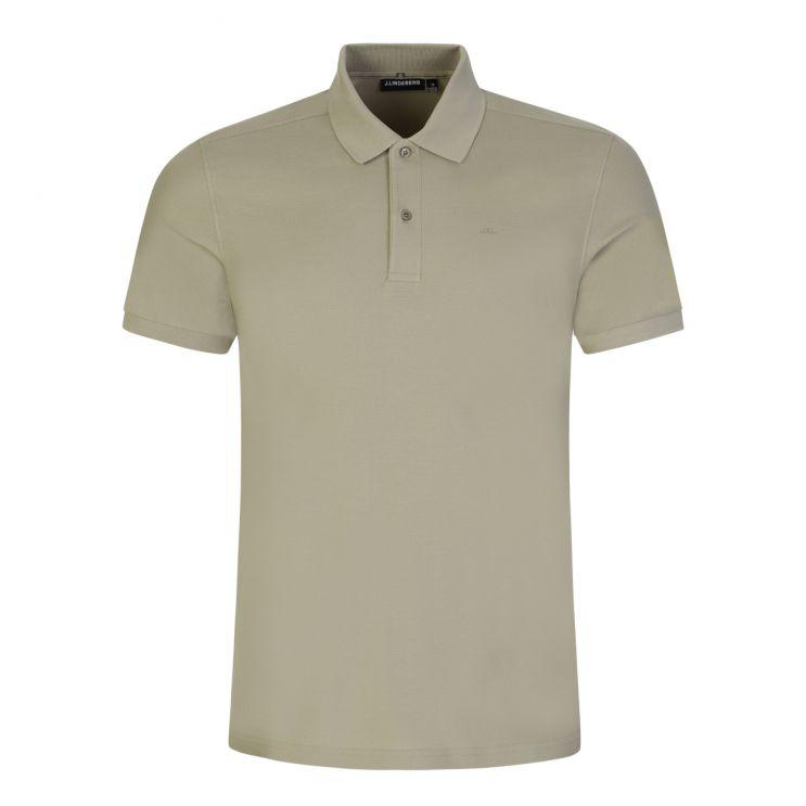 J.Lindeberg Green Cotton Pique Troy Polo Shirt