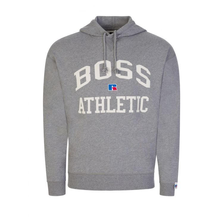 BOSS x Russell Athletic Grey Safa Popover Hoodie