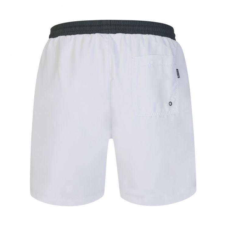 BOSS White/Green Starfish Swim Shorts