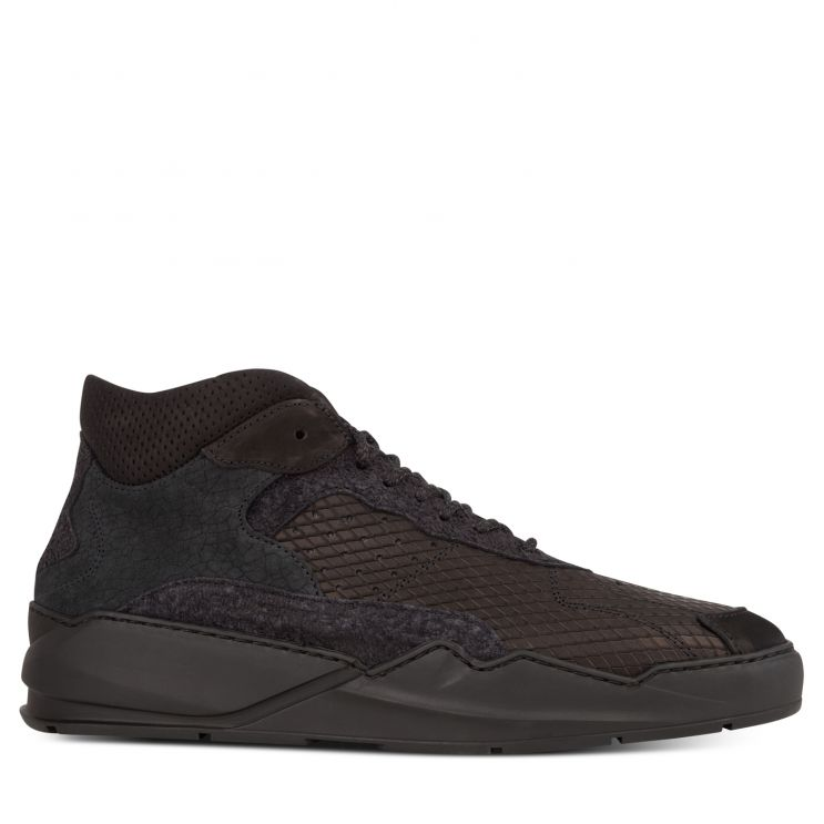 Filling Pieces Black Lay Up Icey Wool Trainers