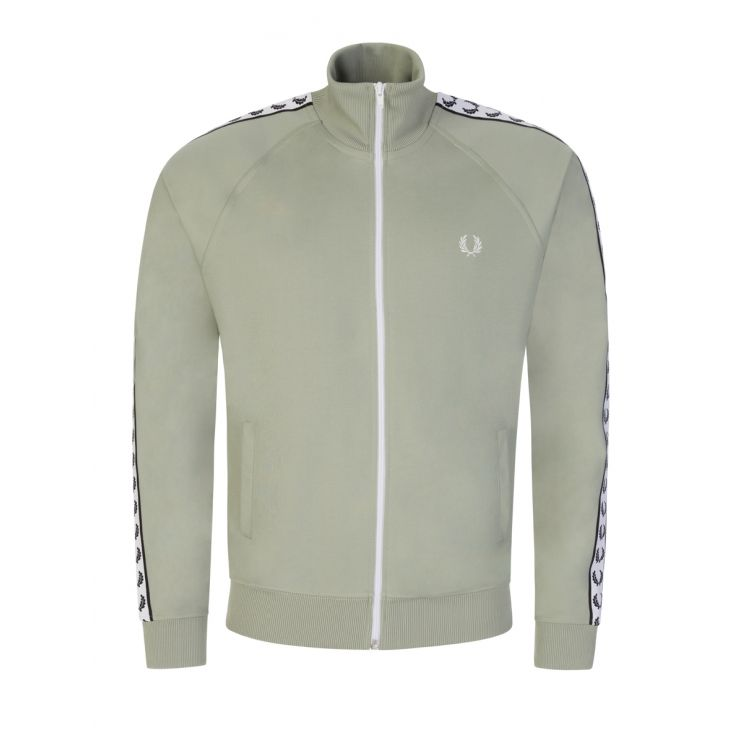 Fred Perry Green Taped Track Zip-Through Jacket
