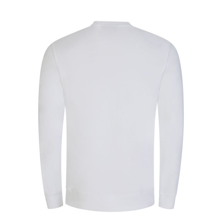 J.Lindeberg White Throw Patch Logo Sweatshirt