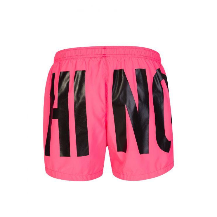Moschino Swim Pink Logo Swim Shorts