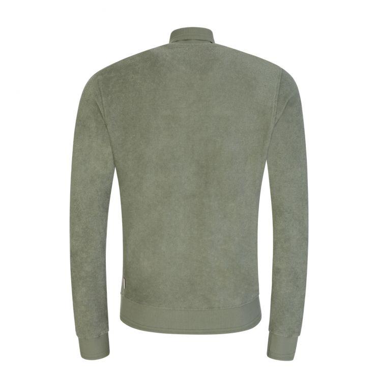 Orlebar Brown Green Brendon Beach Towelling Sweatshirt