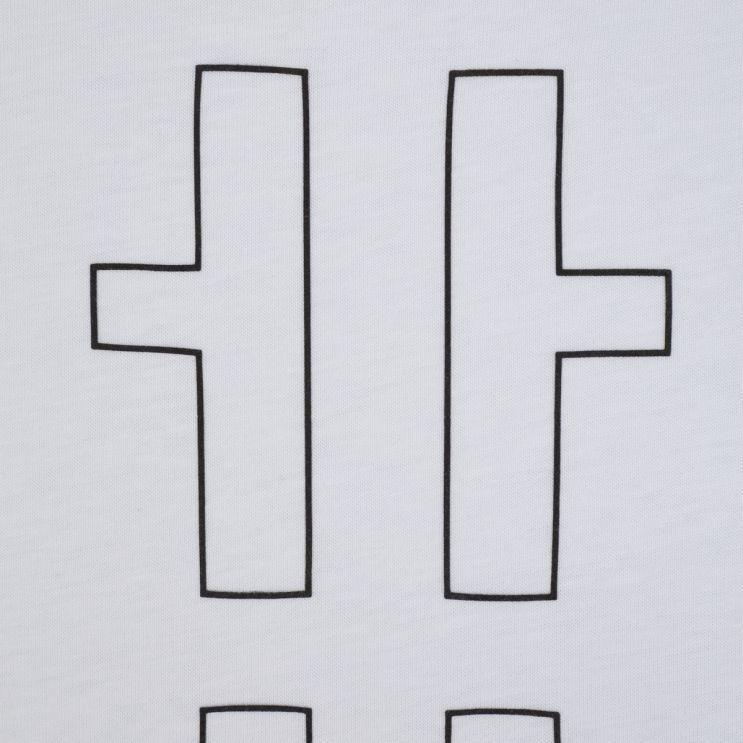 HUGO White Darlon213 Cotton Cropped-Logo T-Shirt