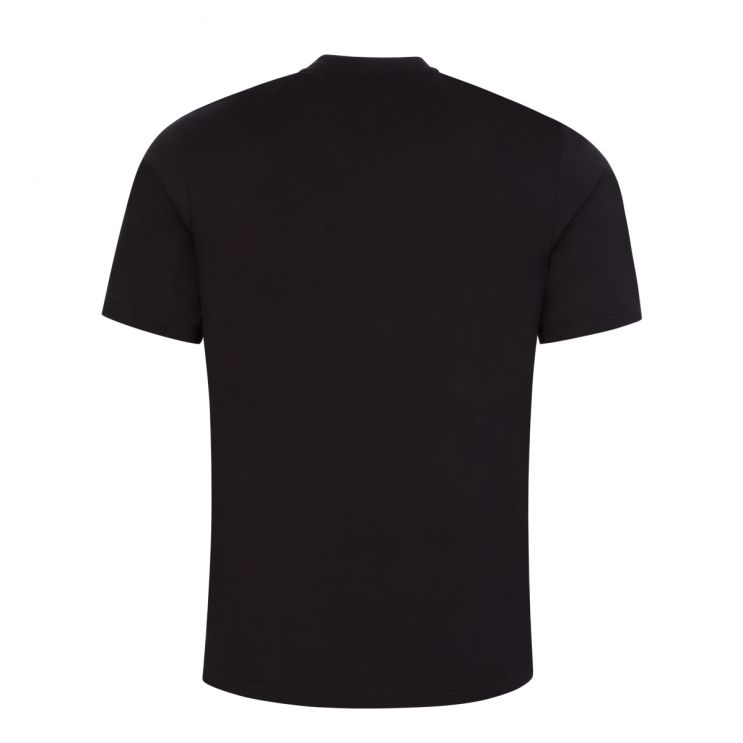 HUGO Black Darlon213 Cotton Cropped-Logo T-Shirt