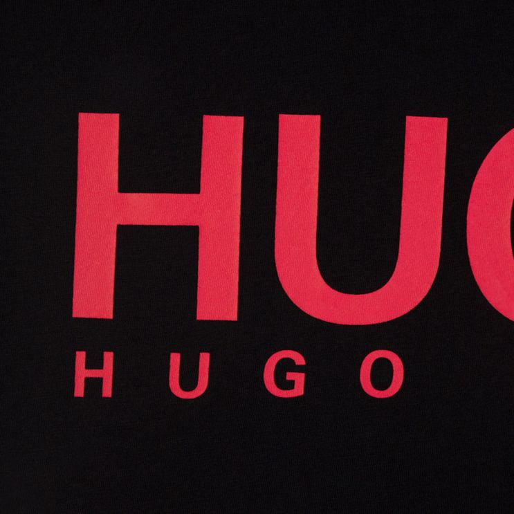 HUGO Black Dolive Logo-Print T-Shirt
