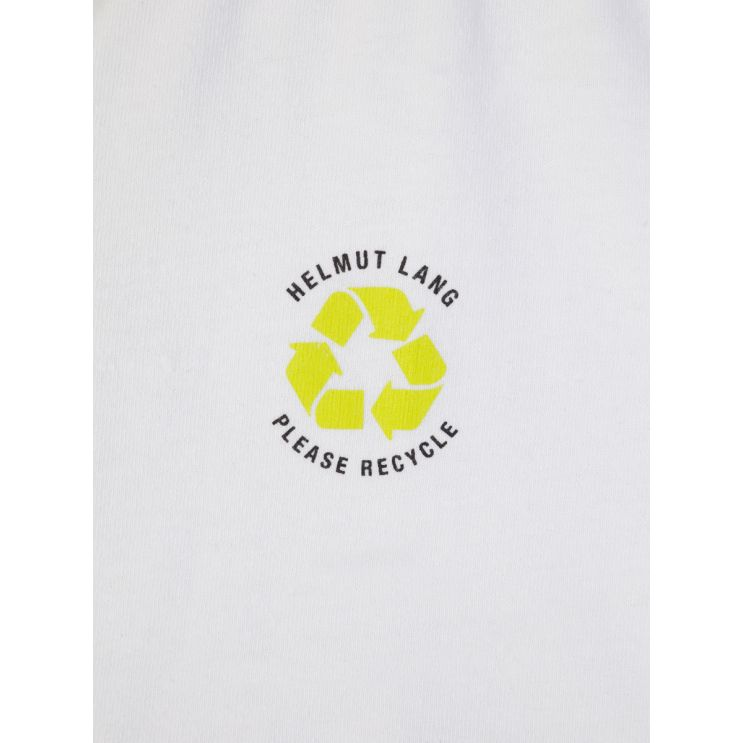 Helmut Lang White Recycled Jersey T-Shirt