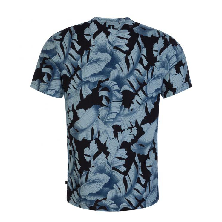 J.Lindeberg Navy Silo Printed T-Shirt