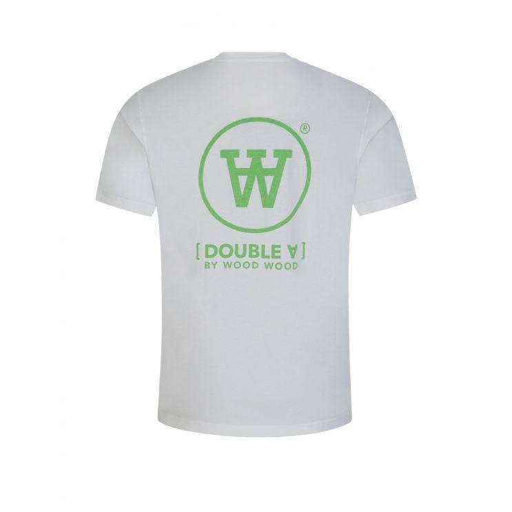 Wood Wood White/Green Ace T-Shirt