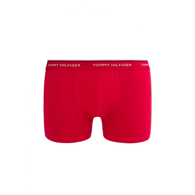 Tommy Bodywear White/Red/Blue 3Pk Stretch Cotton Trunks