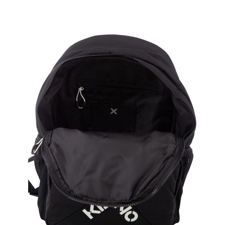 KENZO Black Cross Logo Backpack