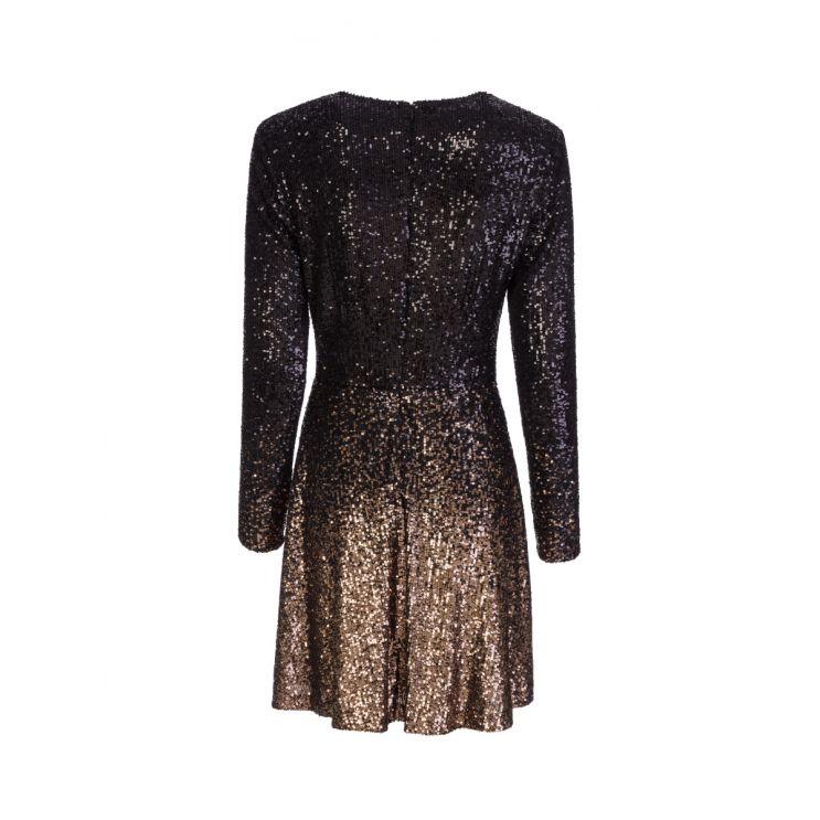 Diane Von Furstenberg Black Savanna Ombre Mini Dress