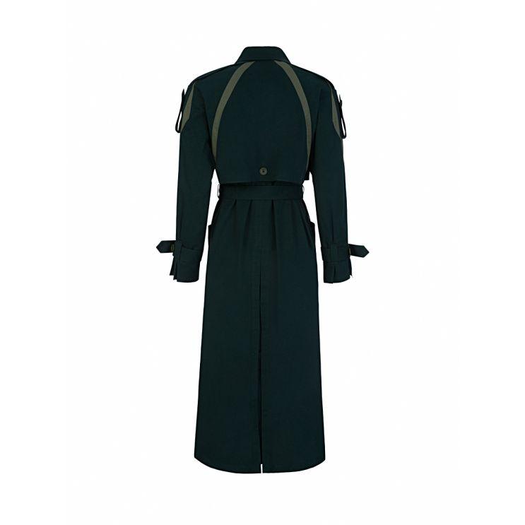 KENZO Green Trench Coat