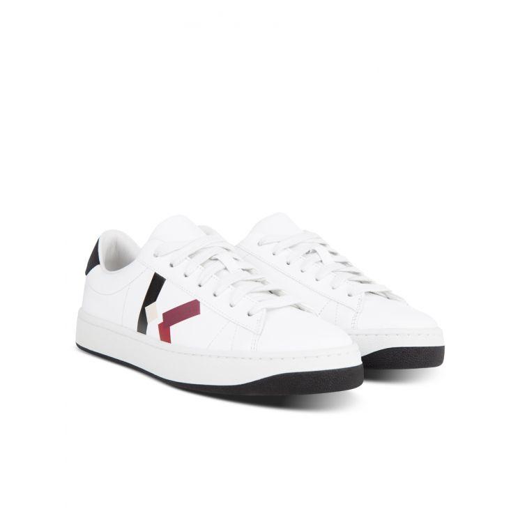KENZO White Leather Kourt K Logo Trainers