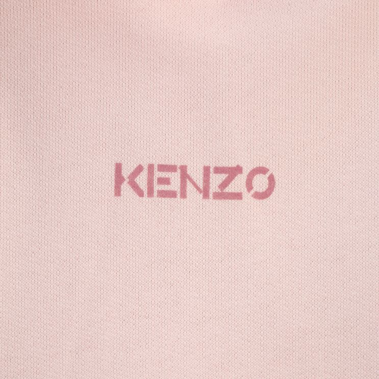 KENZO Faded Pink Popover Hoodie