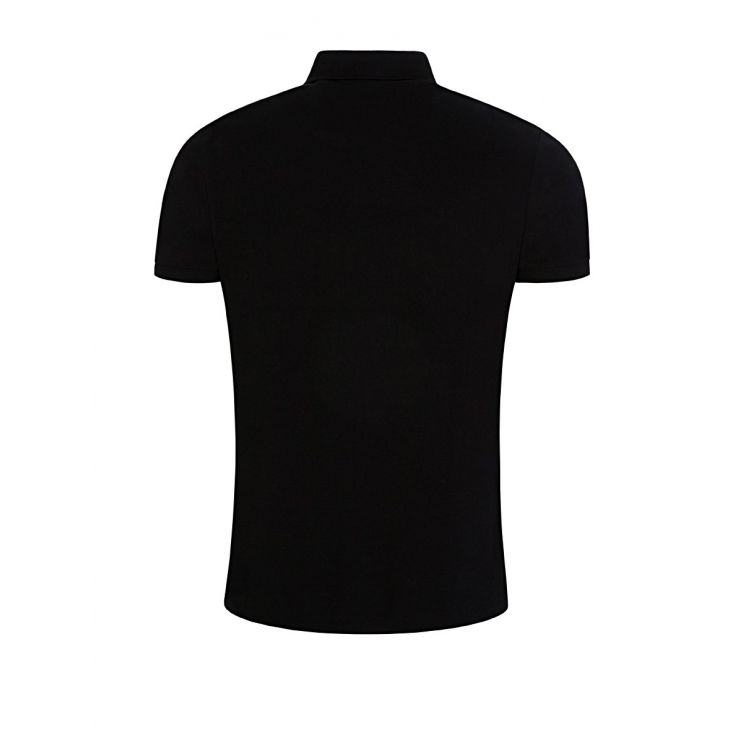 Polo Ralph Lauren Black Custom Slim Fit Mesh Polo Shirt