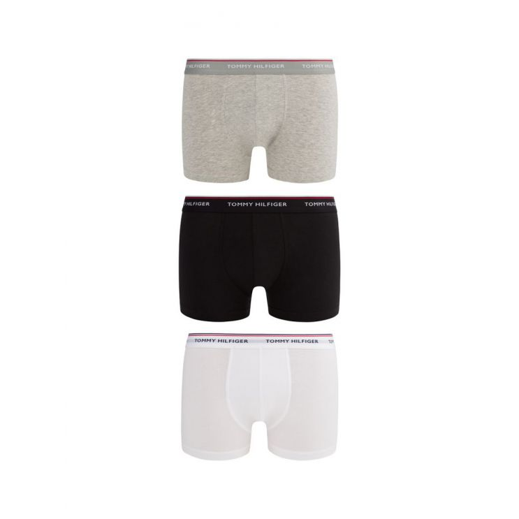 Tommy Bodywear Black/Grey/White 3-Pack Stretch Cotton Trunks