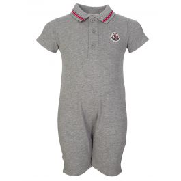 Moncler Baby Grey Polo Romper