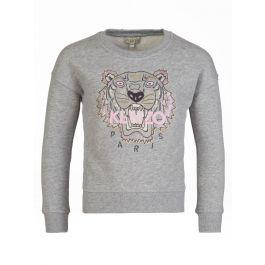 Grey Sequin Tiger Sweatshirt