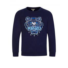 Navy Embroidered Tiger Sweatshirt