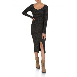 Black and Brown Knitted Dress