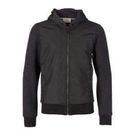 Grey Nylon Panel Jacket
