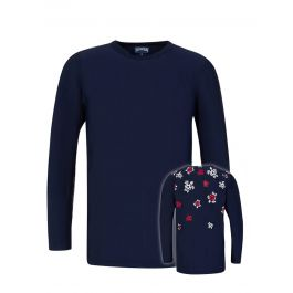 Junior Navy Football Turtle T-Shirt