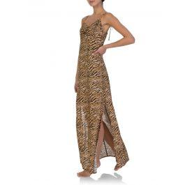 Paula Hermanny Tiger Print Dress