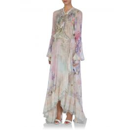 Mermaid Milla Blouson Sleeve Wrap Dress