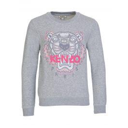 Grey Tiger Motif Sweatshirt