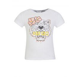 Baby  White Flower Tiger T-Shirt