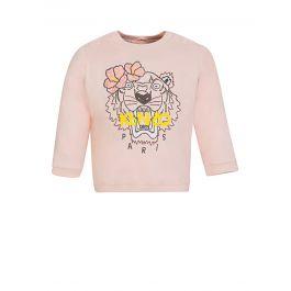 Baby  Pink Tiger Logo Sweatshirt