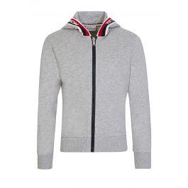 Grey Logo Zip-Through Hoodie