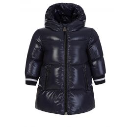 Navy Hooded Puffer Coat