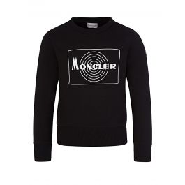Black Rubberised Logo Sweatshirt