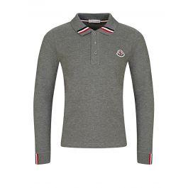 Grey Long-Sleeved Polo Shirt